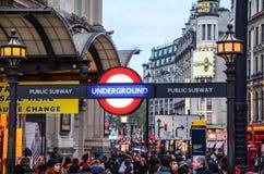 Undeground de Londres Photo libre de droits