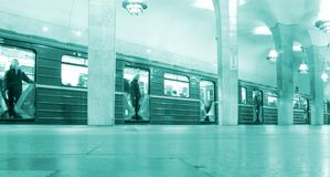 Undeground train Stock Photography