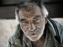 An undentified homeless man Royalty Free Stock Photos