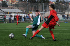 Under 15 soccer game Royalty Free Stock Images