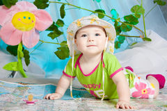 The under-age traveller Stock Photography