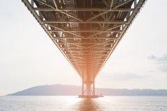 Under Akashi suspension bridge Royalty Free Stock Photography