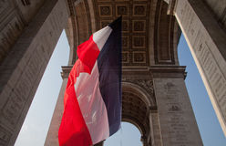 Under Arch de Triomphe Paris Stock Images