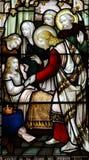 Under av Jesus: kurera en sjuk flicka Arkivfoton