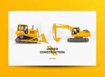 Under baner för konstruktionsWebsiterengöringsduk Modern utformad vektorillustration royaltyfri illustrationer