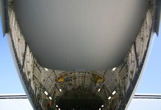 Under Belly of Military C-17 Aircraft Stock Images