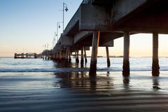 Under Belmont Shores Pier Long Beach Sunset Royalty Free Stock Photos