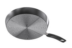 Under black pan on white background Stock Photos