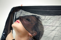 Under the black veil Stock Photos