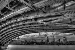 Under Blackfrairs Bridge Royalty Free Stock Photography