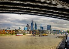 Under Blackfriars Bridge royalty free stock photo