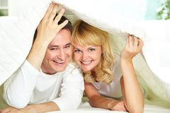 Under blanket Royalty Free Stock Photography