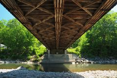 Under Blenheim Covered Bridge Stock Images