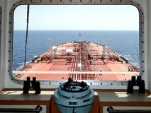 Under the blue sky and white clouds, sea sailing across the oil tanker, VLCC combined Stock Images