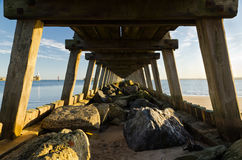 Under the boardwalk Stock Photography