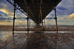 Under the boardwalk Royalty Free Stock Photography
