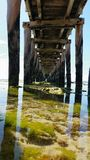 Under the Boardwalk Stock Images