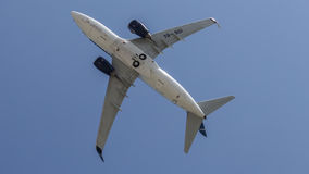 Under Boeing 737 YR-BGI from TAROM Stock Photos