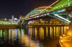 Under Bohdan Khmelnytsky bridge in Moscow Stock Photos