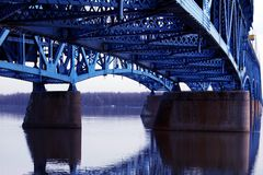 Under The Bridge. Under the Grand Island Bridge,Grand Island,New York Royalty Free Stock Images