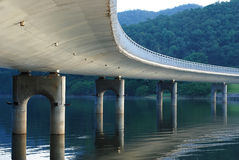 Under a bridge. Under the bridge and near the river Stock Photography