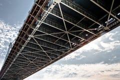 Under a bridge stock images