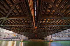 Under the bridge Stock Images