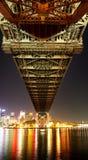 Under the bridge. Under the Sydney Harbour bridge Stock Photography