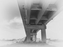 Under the bridge Royalty Free Stock Photos
