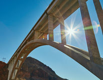 Under the bridge, California, USA. Under the bridge, the Hoover Dam, California, United States Royalty Free Stock Image