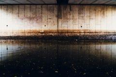 Under Bridge in canal water stock photos