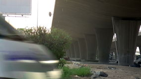 Under the Bridge in the city of Jeddah in the morning closeup. In saudi arabia stock footage