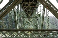 Under a bridge. Bridge at Deception Pass State Park, Washington Stock Images