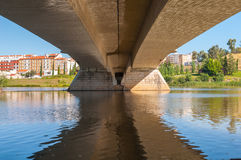 Under the bridge Royalty Free Stock Photos