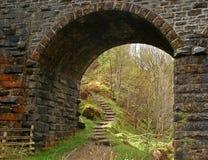 Under a bridge_ef. Photo taken under a railway bridge, Cirnalarich Scotland Stock Photo