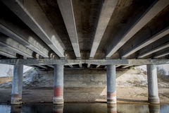 Under the bridge Royalty Free Stock Images