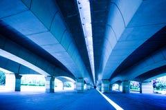 Under the bridge in the gardens of Valencia, Spain Stock Photo