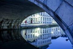 Under an bridge royalty free stock photography
