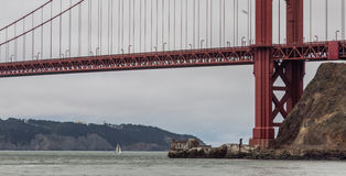 Under the Bridge - Golden Gate Stock Images