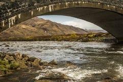 Under the bridge, Highlands - Glen Sligachan. View from under the bridge in Glen Sligachan, Skye Island, Scotland Royalty Free Stock Photography