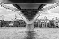 Under the bridge, London Royalty Free Stock Photos