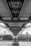 Under the bridge, London Royalty Free Stock Photo