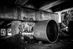 Under Bridge. A lone place under the bridge, a bizzarre look Stock Photos