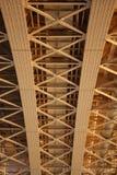 Under the bridge. Under the Margit Bridge, view from the Margit Island, Budapest, Hungary, Europe stock photos