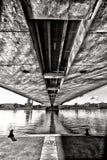 Under the bridge in metro way Stock Photo
