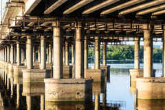 Under a bridge Royalty Free Stock Photos