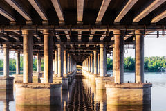 Under a bridge Royalty Free Stock Photography