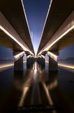 Under the bridge. Photo of modern bridge in hangzhou, china Royalty Free Stock Image