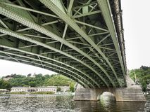 Under the bridge in Prague Royalty Free Stock Photos