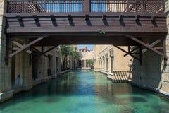 Under bridge river view in amazing beautiful luxury resort Royalty Free Stock Photo